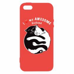 Чехол для iPhone5/5S/SE Cats and love