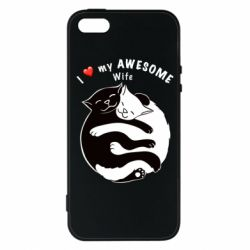 Чехол для iPhone5/5S/SE Cats with a smile