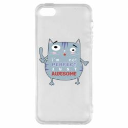 Чехол для iPhone5/5S/SE Cute cat and text