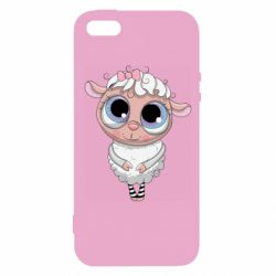 Чехол для iPhone5/5S/SE Cute lamb with big eyes