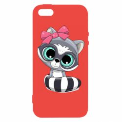Чехол для iPhone5/5S/SE Cute raccoon
