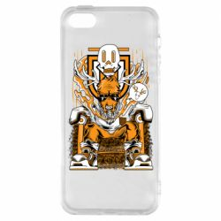 Чехол для iPhone5/5S/SE Deer On The Throne