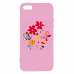 Чехол для iPhone5/5S/SE Flowers and Butterflies