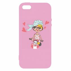 Чехол для iPhone5/5S/SE Girl and moped