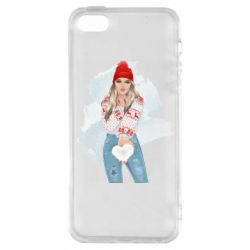 Чехол для iPhone5/5S/SE Girl in a red sweater