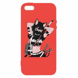 Чехол для iPhone5/5S/SE Girl with katanas