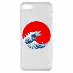 Чохол для iphone 5/5S/SE Godzilla Wave