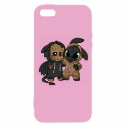 Чехол для iPhone5/5S/SE Groot And Toothless