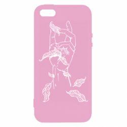 Чохол для iPhone 5 Hand with leafs