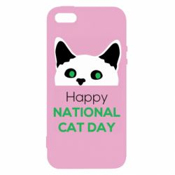 Чехол для iPhone5/5S/SE Happy National Cat Day