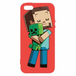 Чехол для iPhone5/5S/SE Heroes from Minecraft