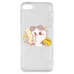 Чохол для iphone 5/5S/SE Кішка тримає руку