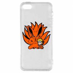 Чохол для iphone 5/5S/SE Kurama And Naruto