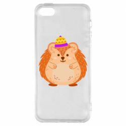 Чохол для iphone 5/5S/SE Little hedgehog in a hat