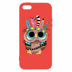 Чохол для iPhone 5 Little owl with feathers