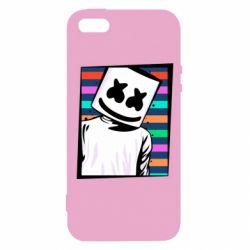 Чехол для iPhone5/5S/SE Marshmello Colorful Portrait