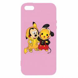 Чехол для iPhone5/5S/SE Mickey and Pikachu