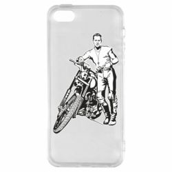 Чехол для iPhone5/5S/SE Mickey Rourke and the motorcycle