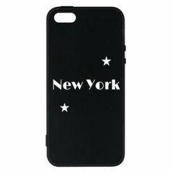 Чехол для iPhone5/5S/SE New York and stars