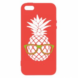 Чехол для iPhone5/5S/SE Pineapple with glasses