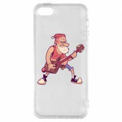Чохол для iPhone 5 Rock'n'roll Santa