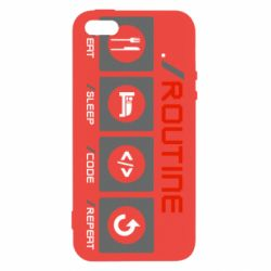 Чохол для iPhone 5 Routine code