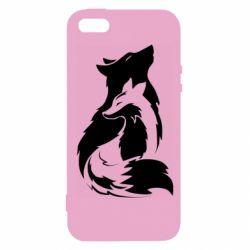 Чехол для iPhone5/5S/SE Wolf And Fox