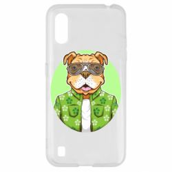 Чохол для Samsung A01/M01 A dog with glasses and a shirt