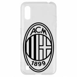 Чохол для Samsung A01/M01 AC Milan logo
