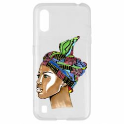 Чохол для Samsung A01/M01 African girl in a color scarf