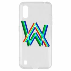 Чехол для Samsung A01/M01 Alan Walker multicolored logo