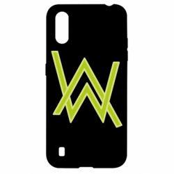 Чехол для Samsung A01/M01 Alan Walker neon logo