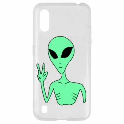 Чехол для Samsung A01/M01 Alien and two fingers