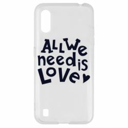 Чехол для Samsung A01/M01 All we need is love