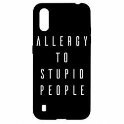 Чехол для Samsung A01/M01 Allergy To Stupid People