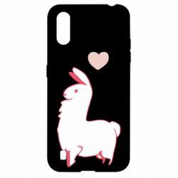 Чохол для Samsung A01/M01 Alpaca with a heart