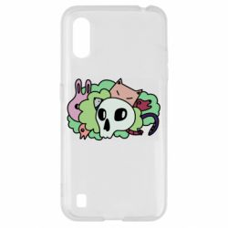 Чехол для Samsung A01/M01 Animals and skull in the bushes