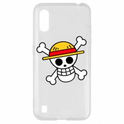 Чохол для Samsung A01/M01 Anime logo One Piece skull pirate