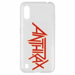 Чохол для Samsung A01/M01 Anthrax red logo