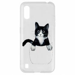 Чехол для Samsung A01/M01 Art cat in your pocket