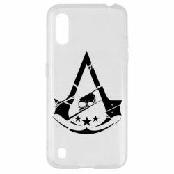 Чехол для Samsung A01/M01 Assassin's Creed and skull 1