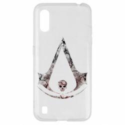 Чехол для Samsung A01/M01 Assassins Creed and skull