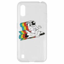 Чохол для Samsung A01/M01 Astronaut on a rocket with a tape recorder