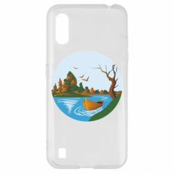 Чехол для Samsung A01/M01 Autumn fishing