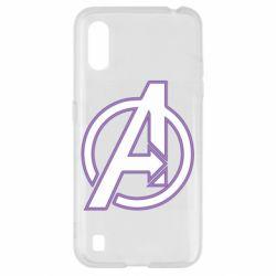 Чехол для Samsung A01/M01 Avengers and simple logo