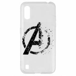 Чехол для Samsung A01/M01 Avengers logotype destruction