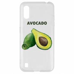 Чехол для Samsung A01/M01 Avocado watercolor