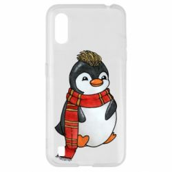 Чохол для Samsung A01/M01 Baby penguin with a scarf