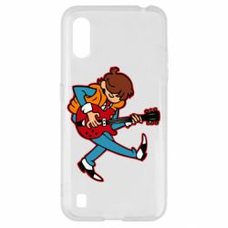 Чехол для Samsung A01/M01 Back to the Future Marty McFly