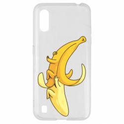 Чохол для Samsung A01/M01 Banana in a Banana